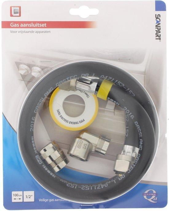 "Scanpart gasslang Sansluitset - 1/2"" - 100 cm - Aluminium (NL)"