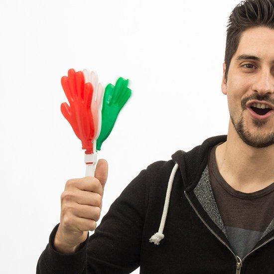 Handklappers Italiaanse Vlag