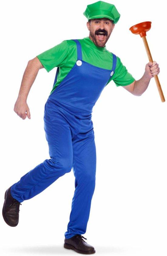 Super Mario - Luigi - Groen - Volwassenen - Verkleedkleding - Maat M/L - Carnavalskleding
