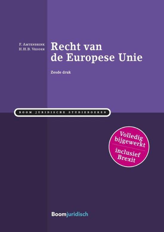 Boom Juridische studieboeken Recht van de Europese Unie