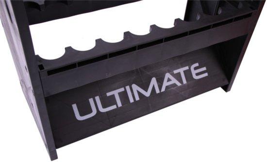 Ultimate Hengelrek - voor 16 hengels - 44,5 x 20,5 x 90cm - zwart