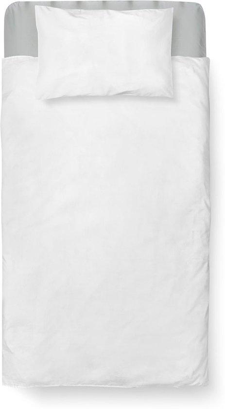 Dekbedovertrek Ledikant - Katoen - 100 x 135 - Wit - Bright White incl. Kussensloop