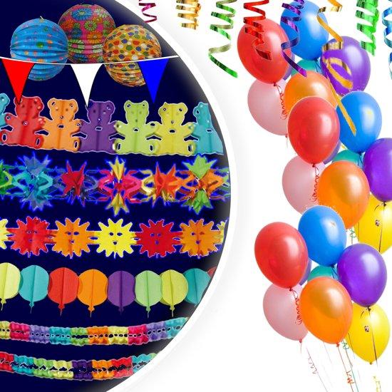 Feestpakket - Groot - Slingers - Ballonnen - Vlaggenlijn