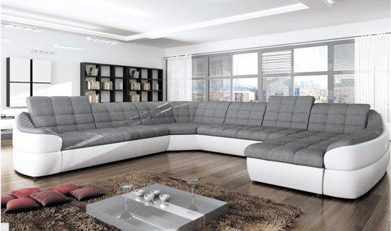 Lounge Hoekbank Antraciet.Bol Com U Bank Comfy Antraciet Wit Lounge Rechts