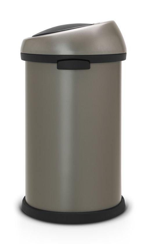 Brabantia Touch Bin 50 Liter Zwart.Brabantia Touch Bin Prullenbak 50 L Platinum