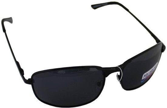 54e2409d1cb6db Zonnebril Sport Rechthoek Polariserend Glas Zwart GRATIS Brillenkoker