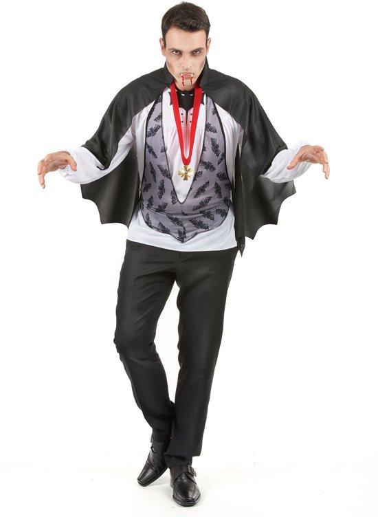 Duister graaf Dracula pak voor mannen - Volwassenen kostuums