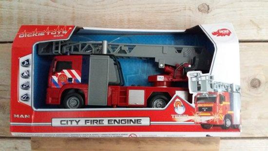 Dickie Toys - Brandweer autoladder met licht en geluid