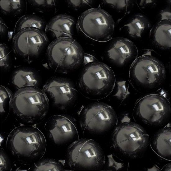 50 babybalballen 5,5 cm Kinderbalbadje Kunststofballen Babyballen Zwart