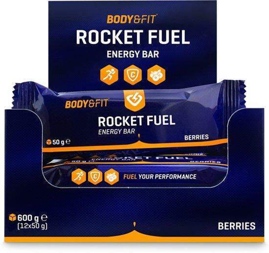 Body & Fit Rocket Fuel Bars - Energiereep - 1 doos (12 repen) - Berries