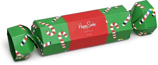 Happy Socks Christmas Cracker Candy Cane Giftbox - Maat 41-46