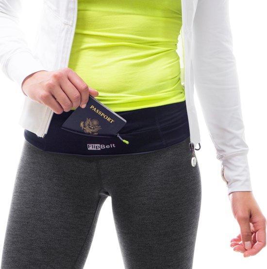 Flipbelt Rits Zwart - Running belt - Hardloopriem - XL