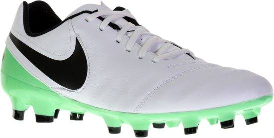 Nike Tiempo Genio II Leather FG Voetbalschoenen Maat 44 Mannen witzwartgroen