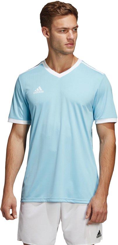 adidas Tabela 18 SS Jersey Teamshirt Heren Sportshirt Maat L Mannen blauwwit
