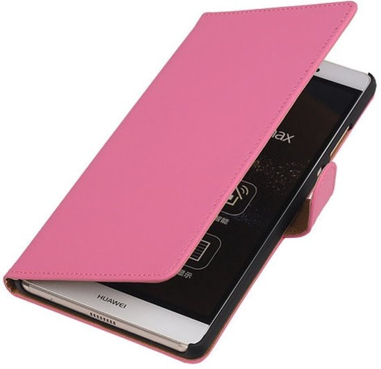 Roze wallet case Huawei P8 Max book type cover cover in Zennewijnen
