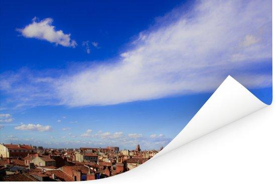 Uitzicht op de daken van Toulouse in Frankrijk Poster 60x40 cm - Foto print op Poster (wanddecoratie woonkamer / slaapkamer) / Europese steden Poster