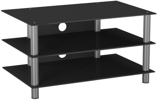 Bol tv meubel tv kast netasa aluminium zwart glas
