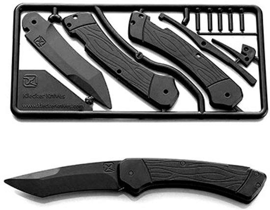 Klecker Knives Trigger Knife Kit, Black Zakmes - Zwart