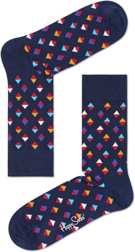 Happy Socks Mini Diamond Sokken - Blauw - 41/46