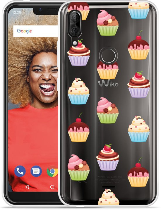 Wiko View 2 Plus Hoesje Cupcakes