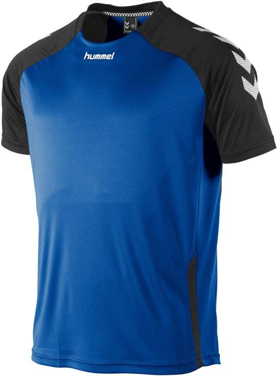 hummel Aarhus Shirt Sportshirt Kinderen - Blauw;Zwart;Wit