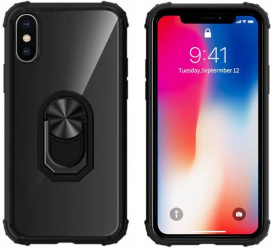 BackCover Ring voor Apple iPhone X/XS Transparant Zwart