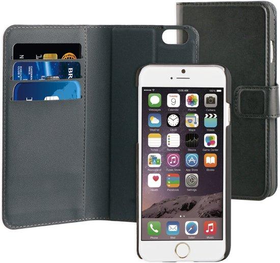 uk availability 7a697 1dbda BeHello 2 in 1 Wallet Case voor Apple iPhone 6/6S Plus - Zwart