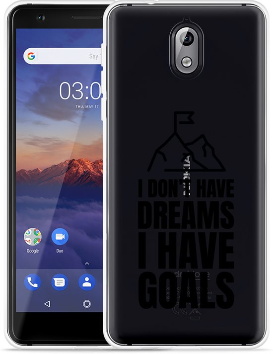 Nokia 3.1 Hoesje Goals are for Men