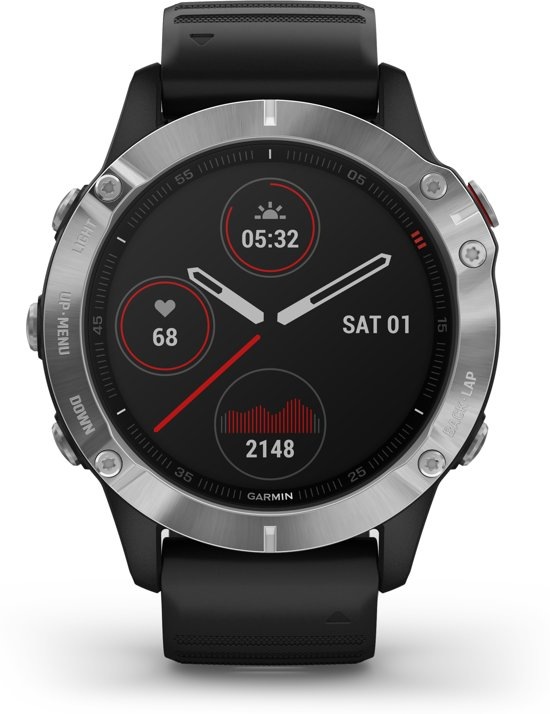 Garmin Fenix 6 - multisport horloge - Zilver/zwart
