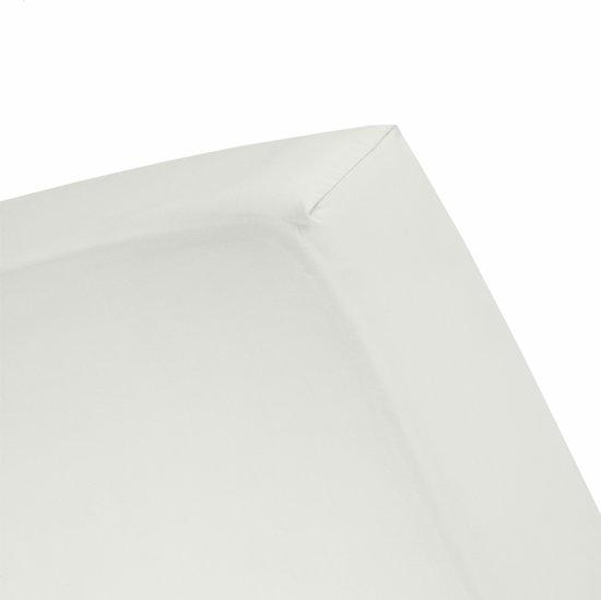 Damai - Hoeslaken (tot 25 cm) - Double Jersey - 180 x 220 - 200 x 200 cm - Ivory