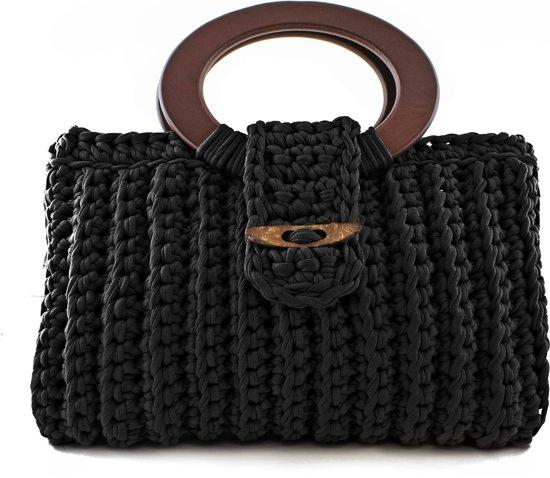 Bolcom Zpagetti Vienna Bag Kit Black Hoooked Speelgoed