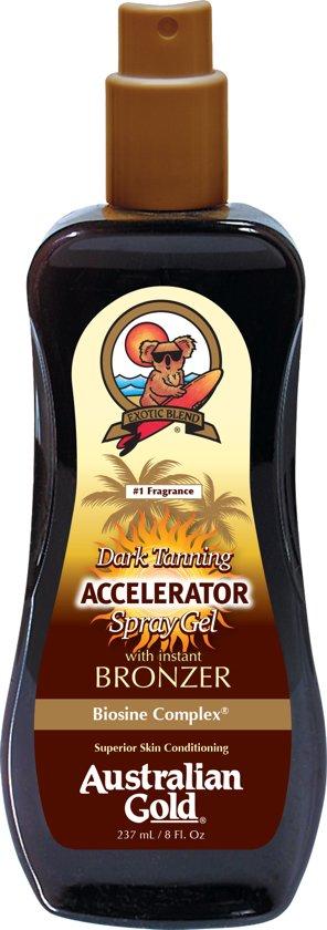 Australian Gold Dark Tanning Accelerator Spray Gel met bronzer 237 ml
