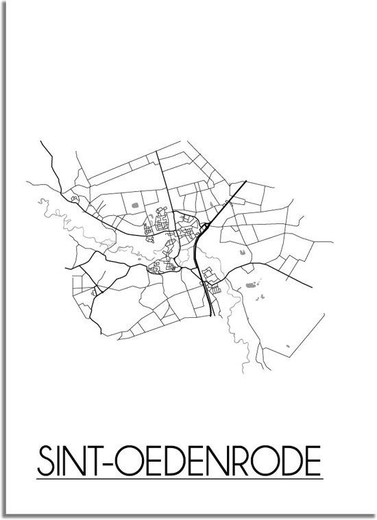 DesignClaud Sint-Oedenrode Plattegrond poster A3 + Fotolijst wit