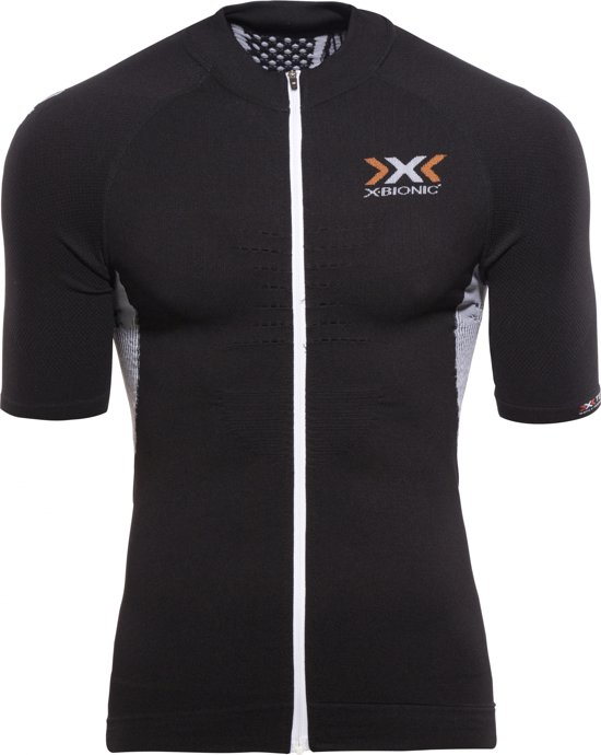 X-Bionic Bike Race The Trick heren jersey Full Zip zwart - Maat S