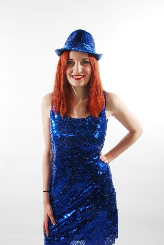 7a5539920b0473 Glitter jurk met parels -Kleur Rood