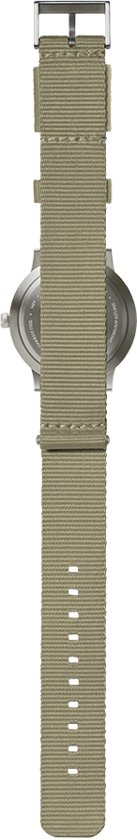 Tube watch T40 steel / sand nato strap