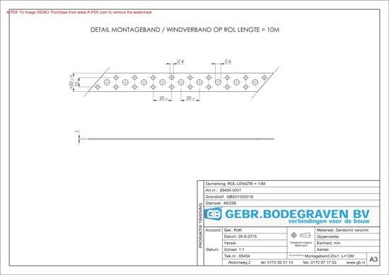 Bolcom Gb Montagebandwindverband 10 Meter 20 X 1mm Sv 85454