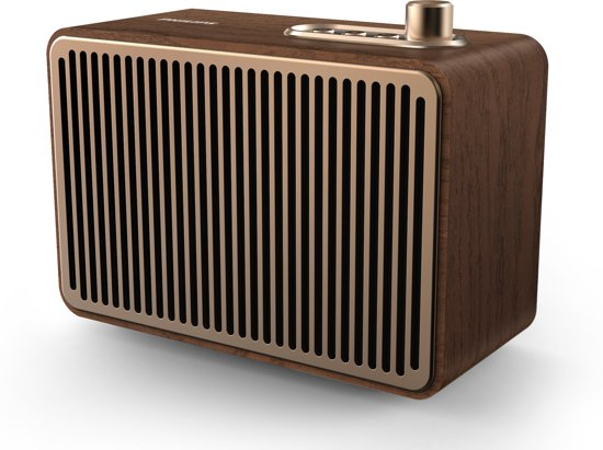 Philips VS500 - Vintage bluetooth speaker - Bruin/Hout