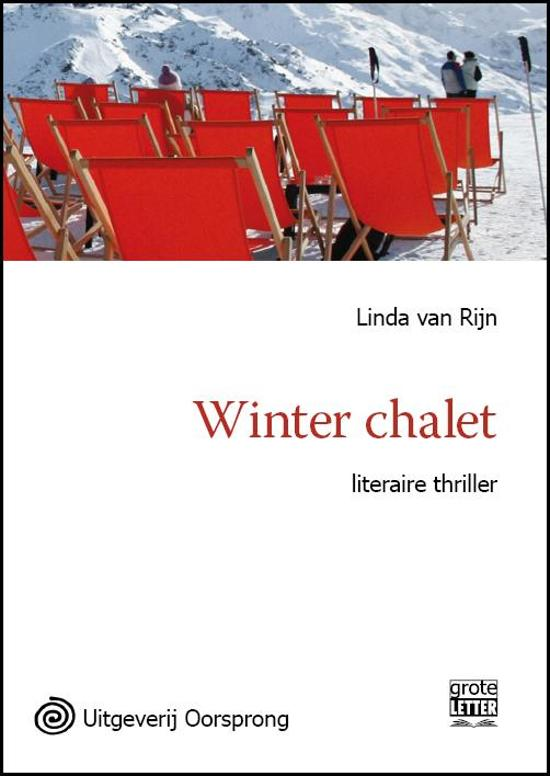 Winter chalet grote letter uitgave