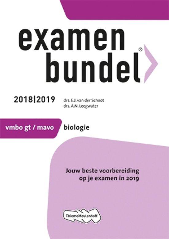 Boek cover Examenbundel vmbo-gt/mavo Biologie 2018/2019 van E.J. van der Schoot (Paperback)
