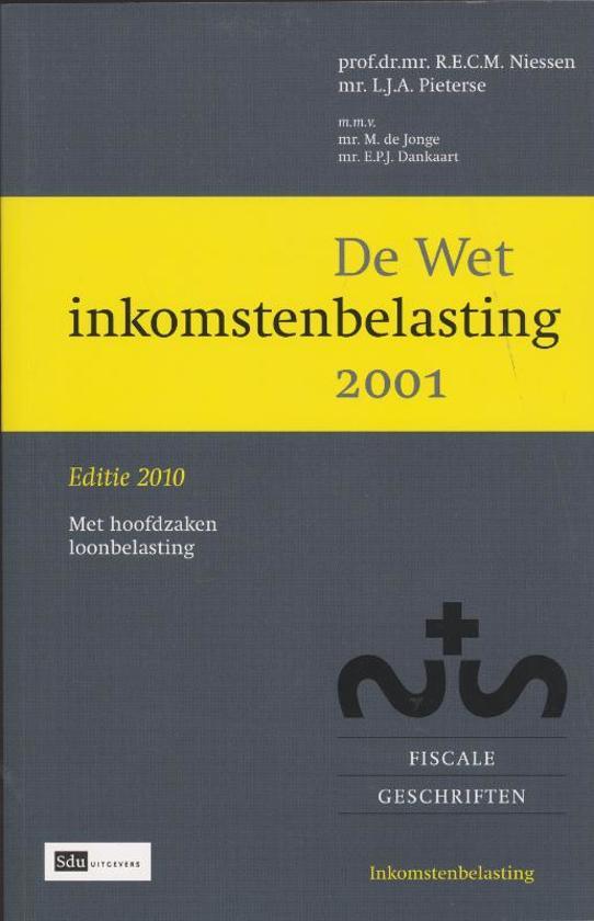 WET INKOMSTENBELASTING 2001 PDF DOWNLOAD