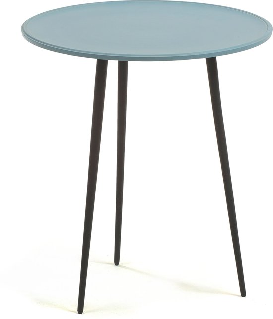 Side Table Metaal.Kave Home Sling Side Table O43 Metaal Light Blue