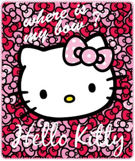 Hello Kitty Fleece Deken.Bol Com Hello Kitty Fleece Plaid 120x140 Cm Roze
