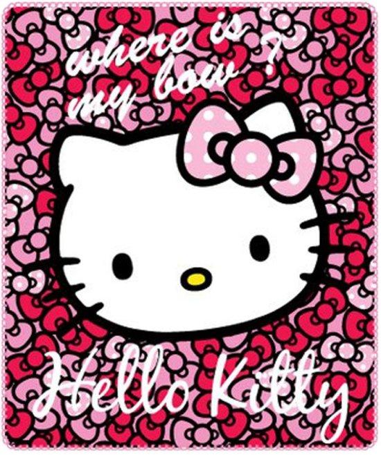 Hello Kitty Fleece Deken.Bol Com Hello Kitty Fleece Plaid 120x140 Cm Roze