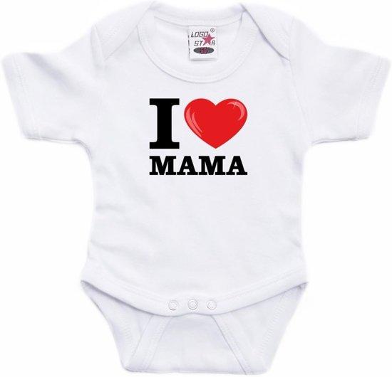 Babykleding Baby.Bol Com Wit I Love Mama Rompertje Baby Babykleding 80 9 12 Maanden