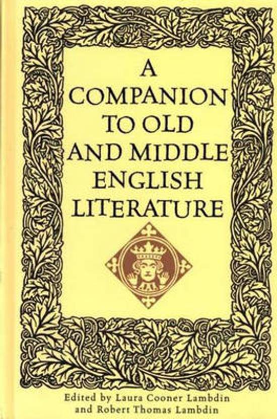 A Companion to Old and Middle English Literature
