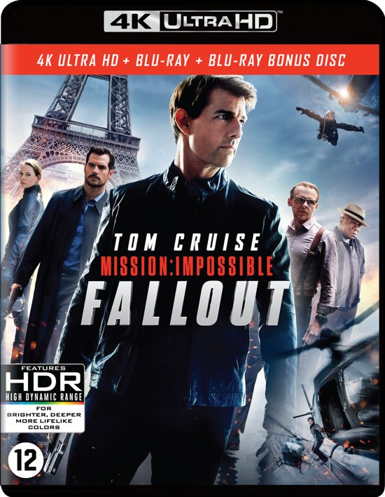 DVD cover van Mission: Impossible 6 - Fallout (4K Ultra HD Blu-ray)
