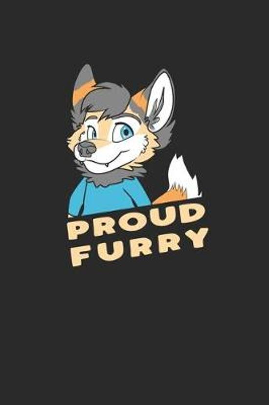 Proud Furry: Furry Fandom. Graph Paper Composition Notebook to Take Notes at Work. Grid, Squared, Quad Ruled. Bullet Point Diary, T