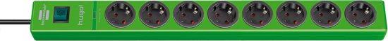 Brennenstuhl Hugo! 8-voudige groene overspanningsbeveiliger - 2 meter