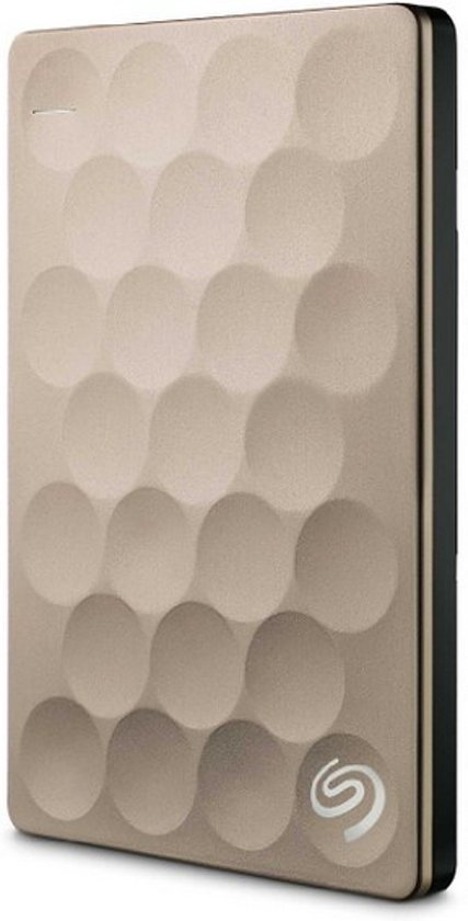 Seagate Backup Plus Ultra Slim 2 TB - Goud